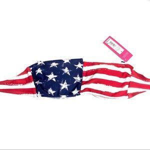NWT Xhilaration American Flag Strapless Bikini Top